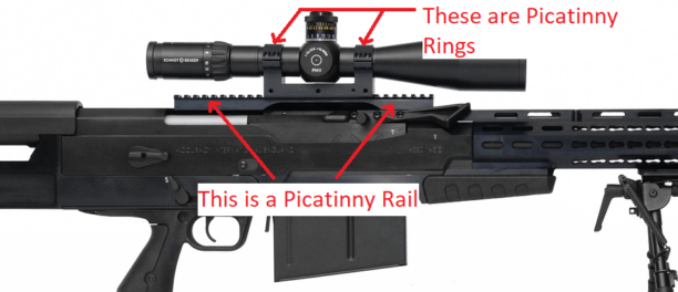 picatinny rail and rings