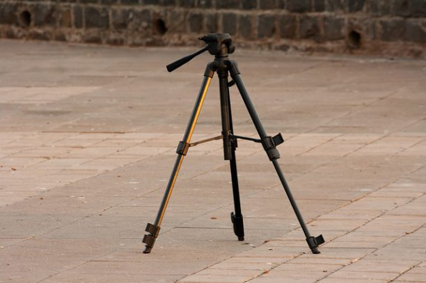 Some binoculars can be attached to a tripod