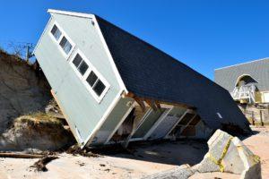 hurricane damaged building