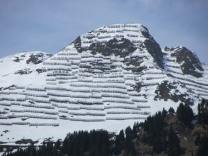 snow barriers to prevent avalanches