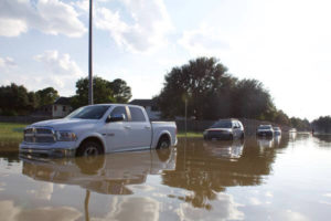 Driving in flood