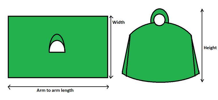 poncho sizes